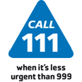 Logo for the NHS 111 service
